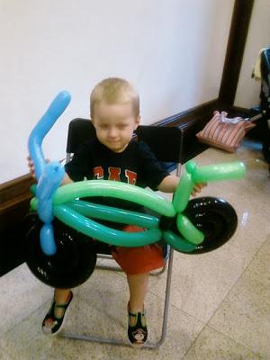 Hey, mom look, I have my own bike!