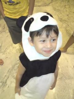 A cute panda kid
