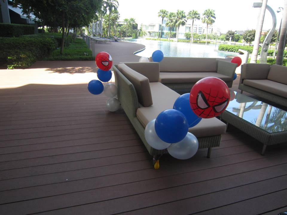 spiderman helium balloons