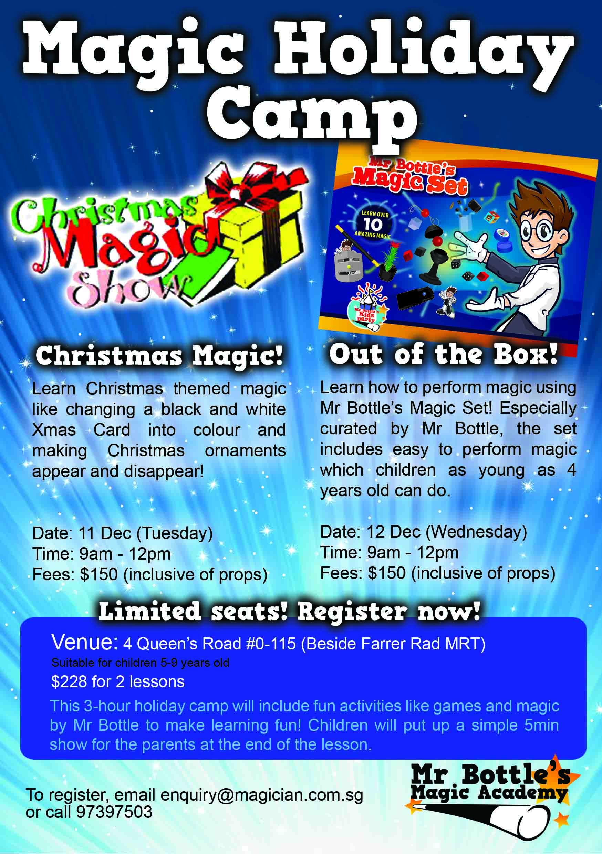 magic holiday December camp