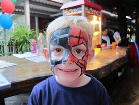 spiderman facepainting