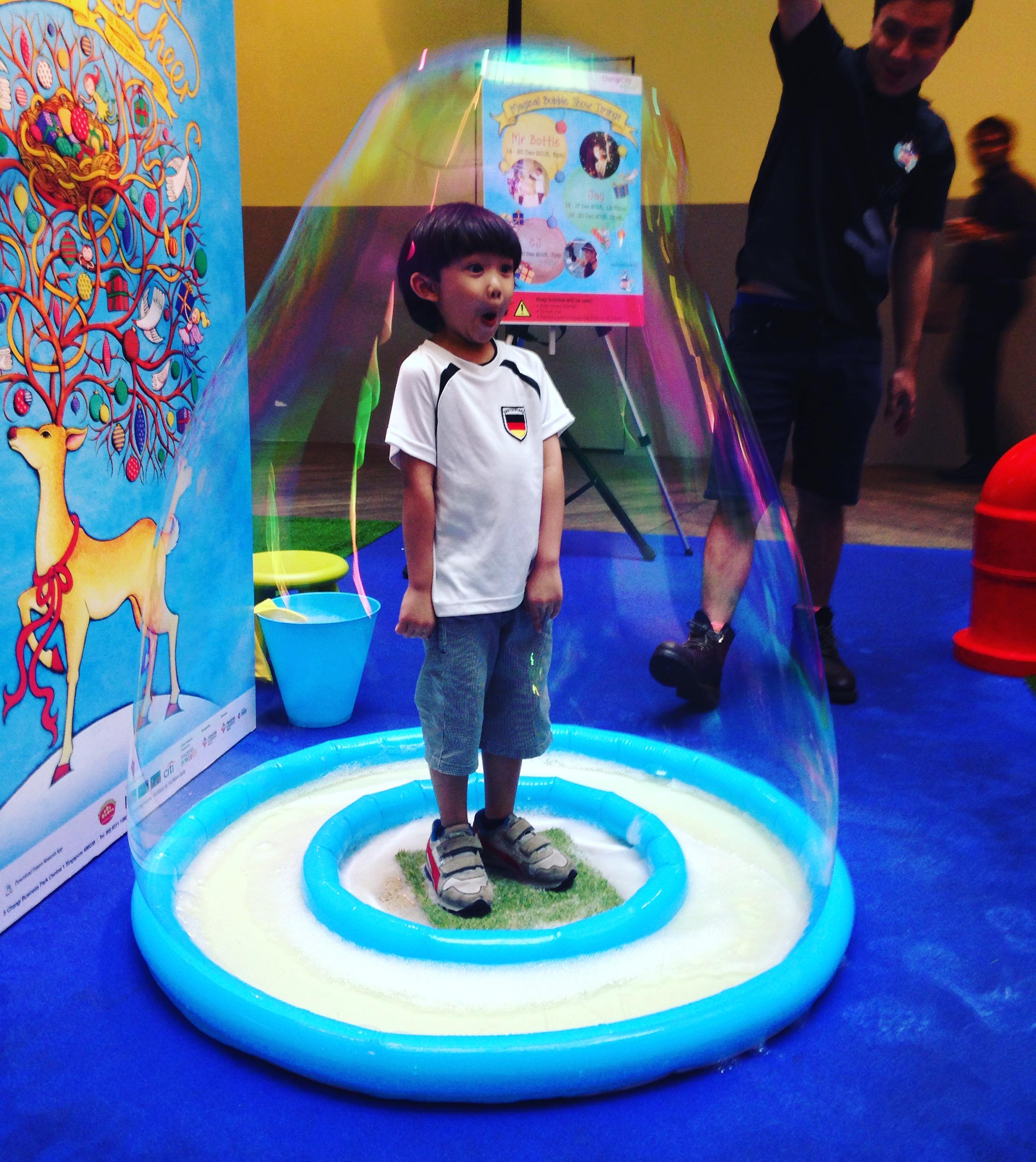 kid in bubble