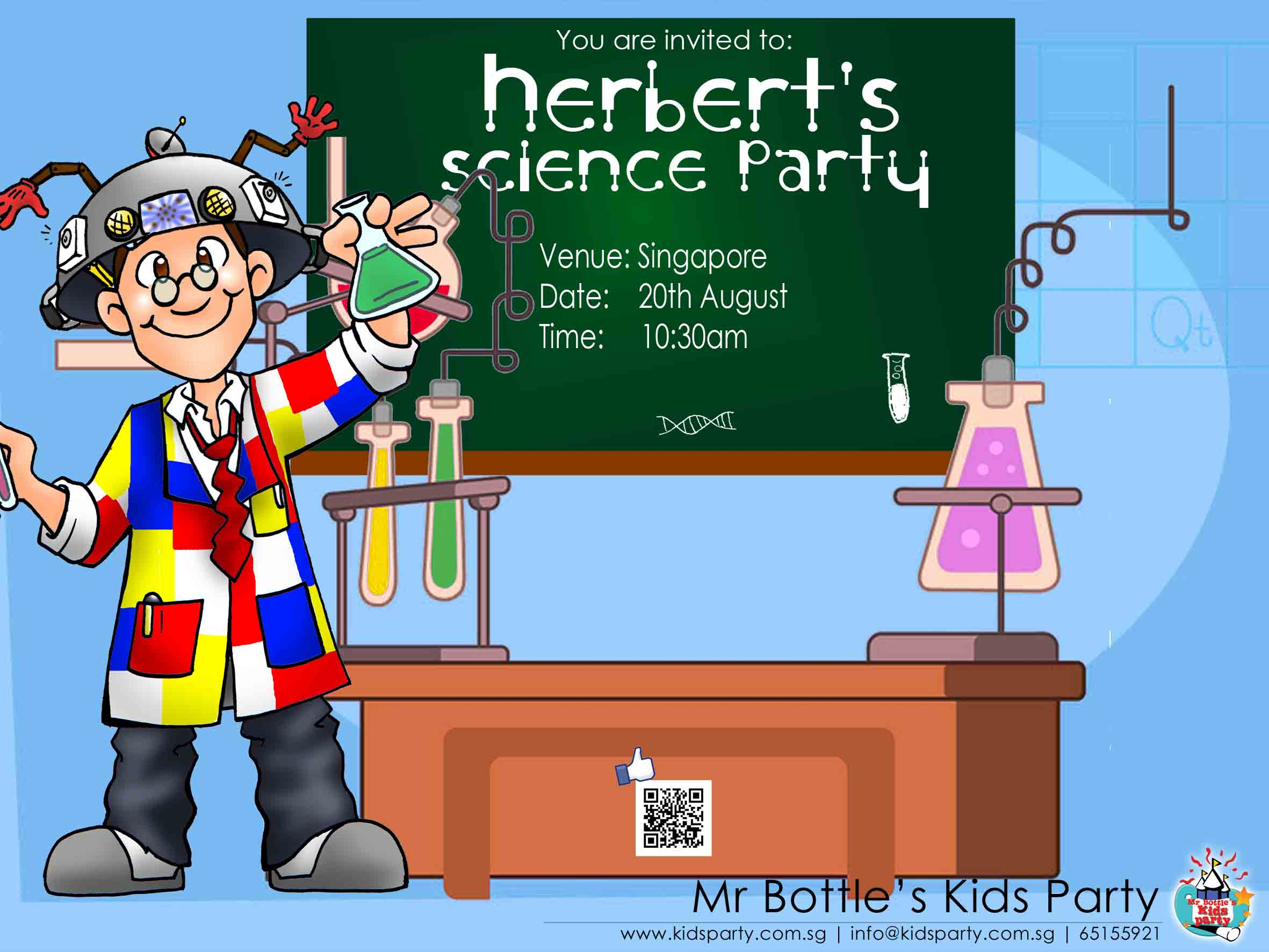 science e-invite