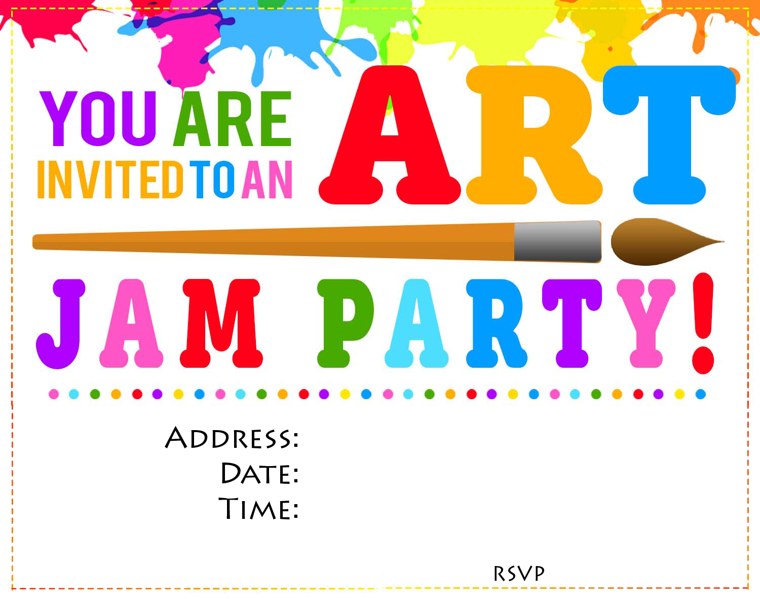 art theme art jam invite