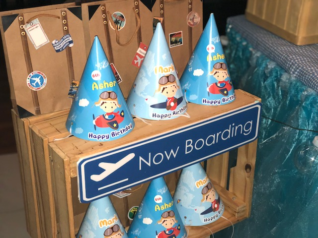 Customised airplane Party Hats!