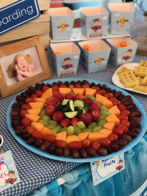 Rainbow fruit platter...
