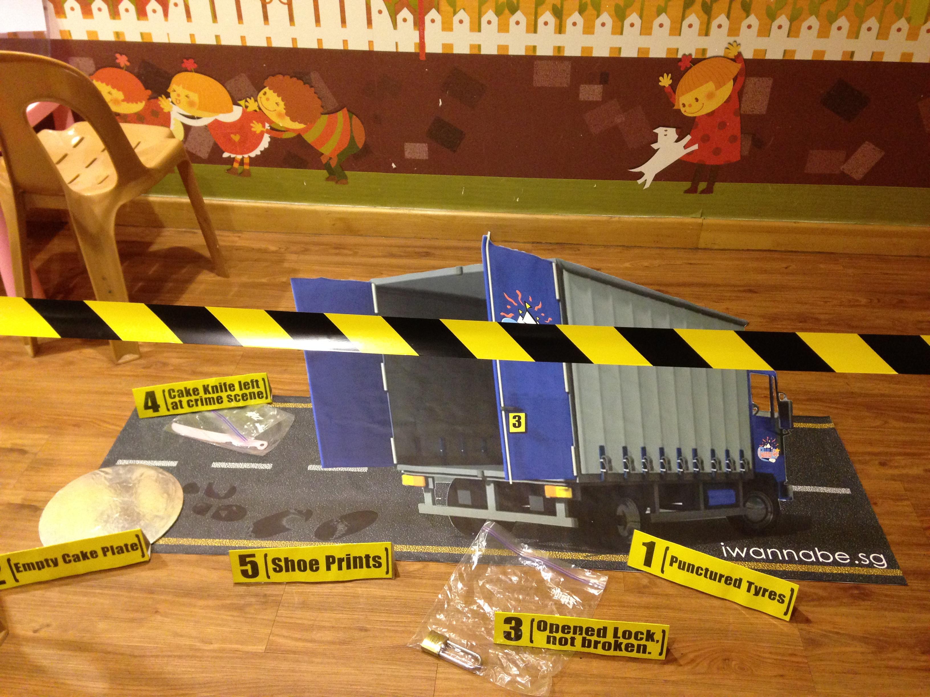 Crime scene set up
