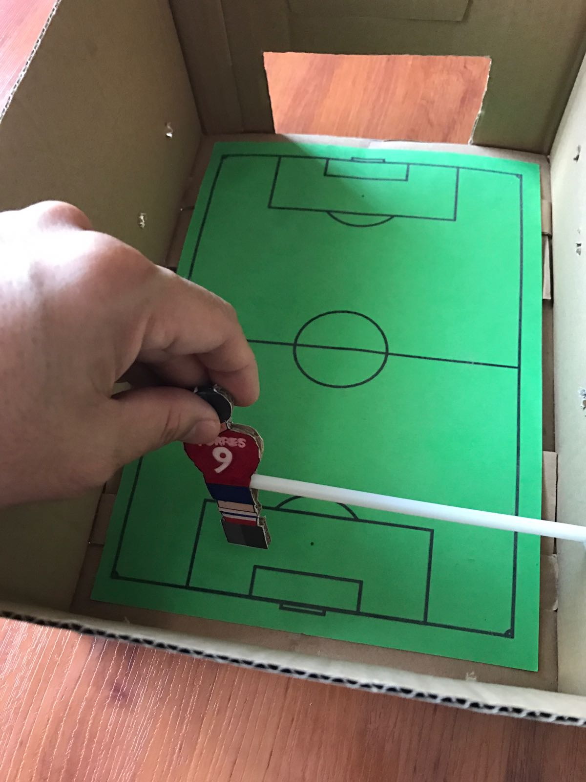 how to make foos ball table game