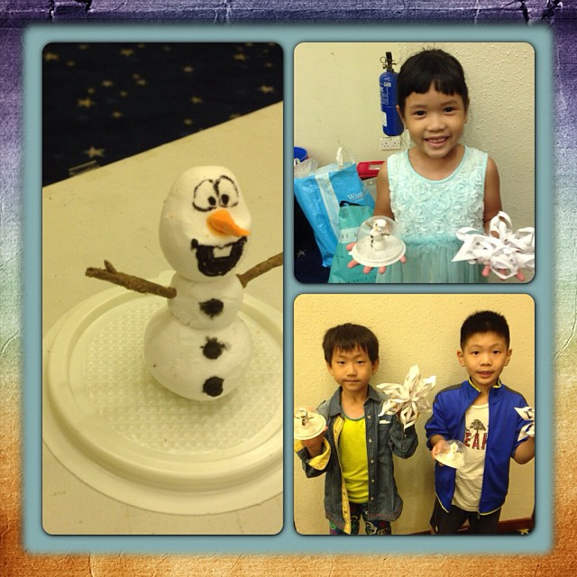 Snow globe making working and snowflakes making art & craft