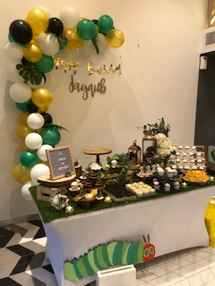 The hungry caterpillar dessert table