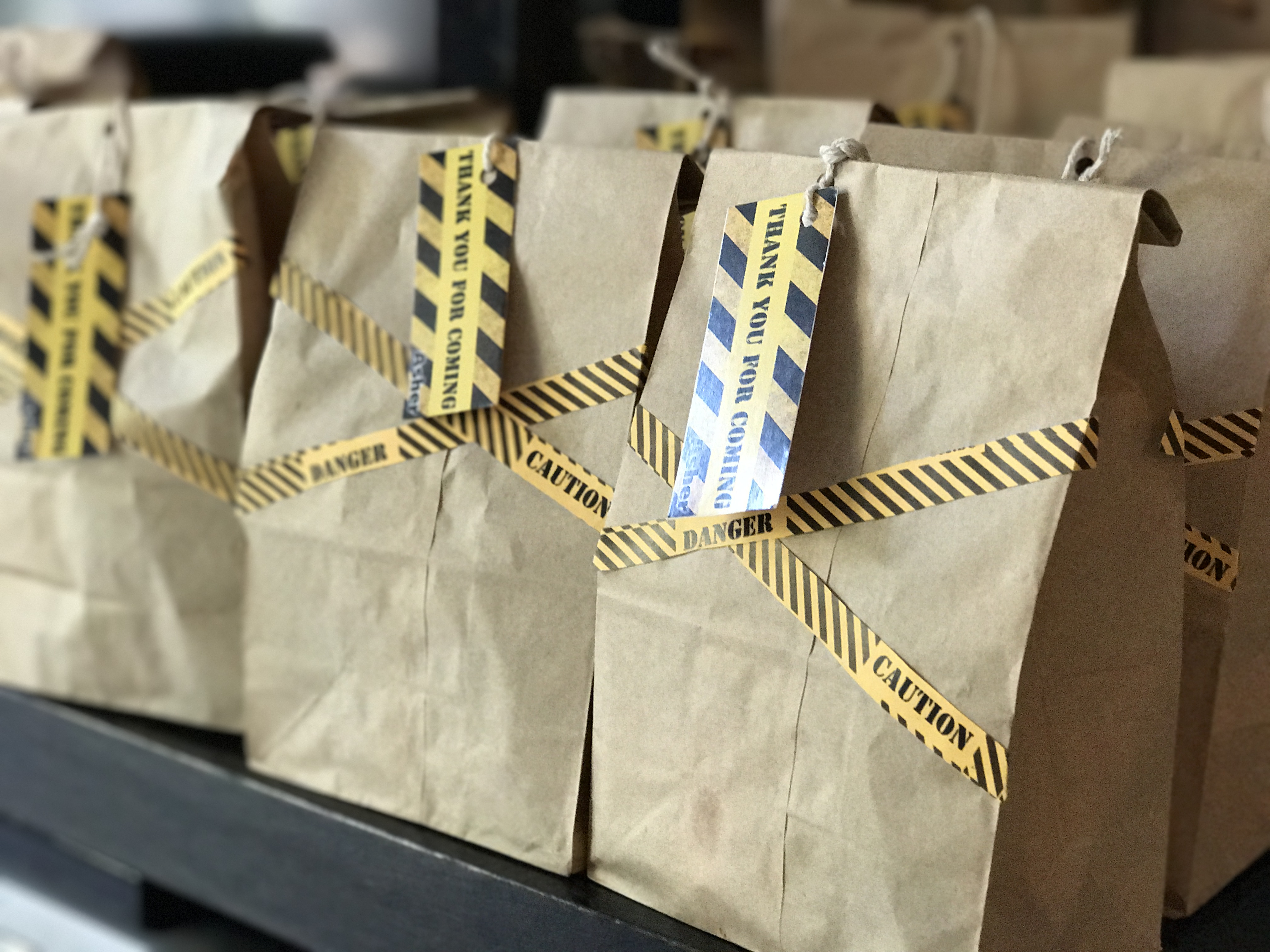 construction themed goodie bags