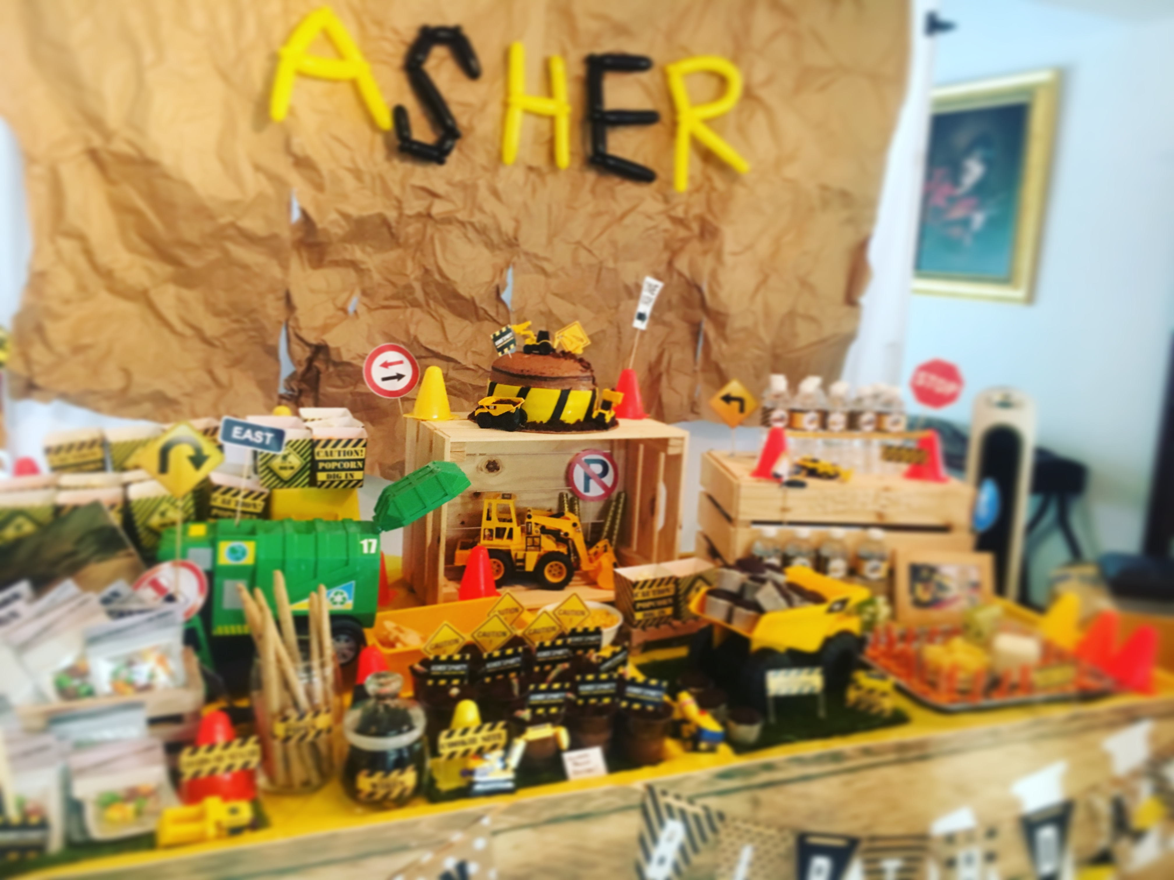 Case Study: Construction Theme Party for a 4-year-old boy