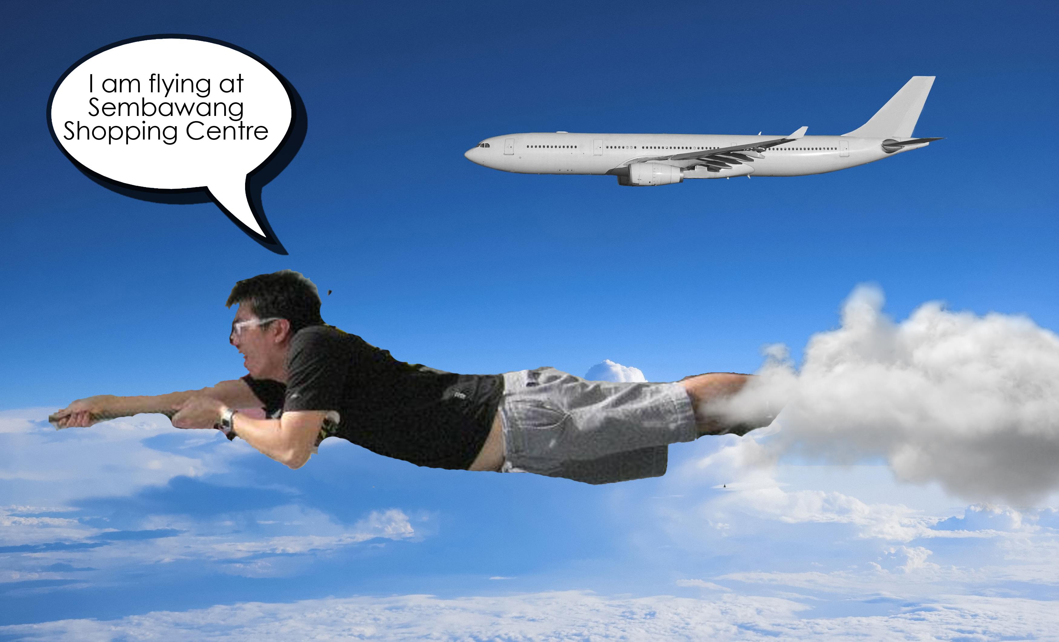 Flying illusion photopoint