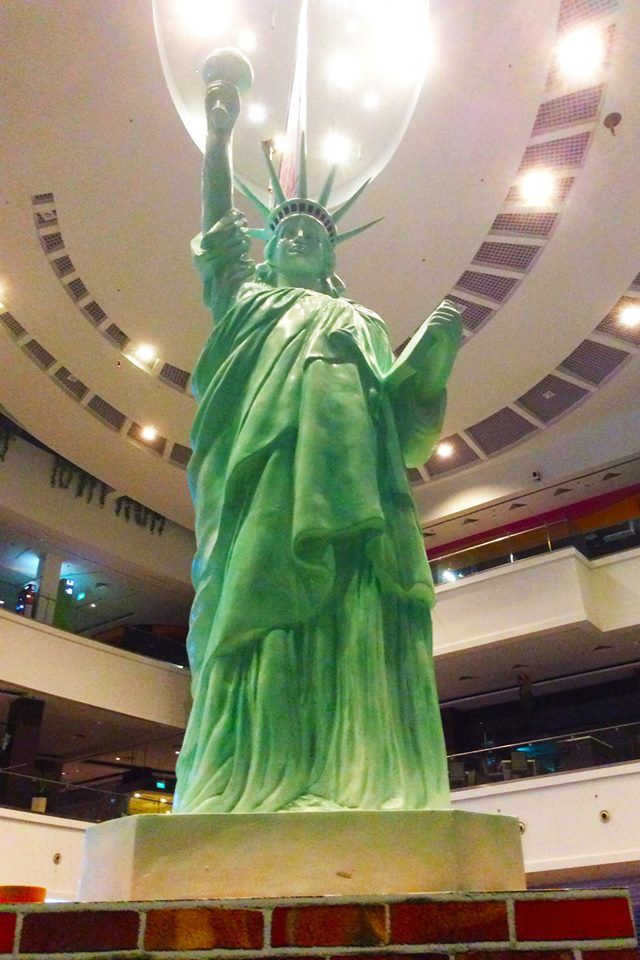 Around the World Theme Statue of Liberty USA