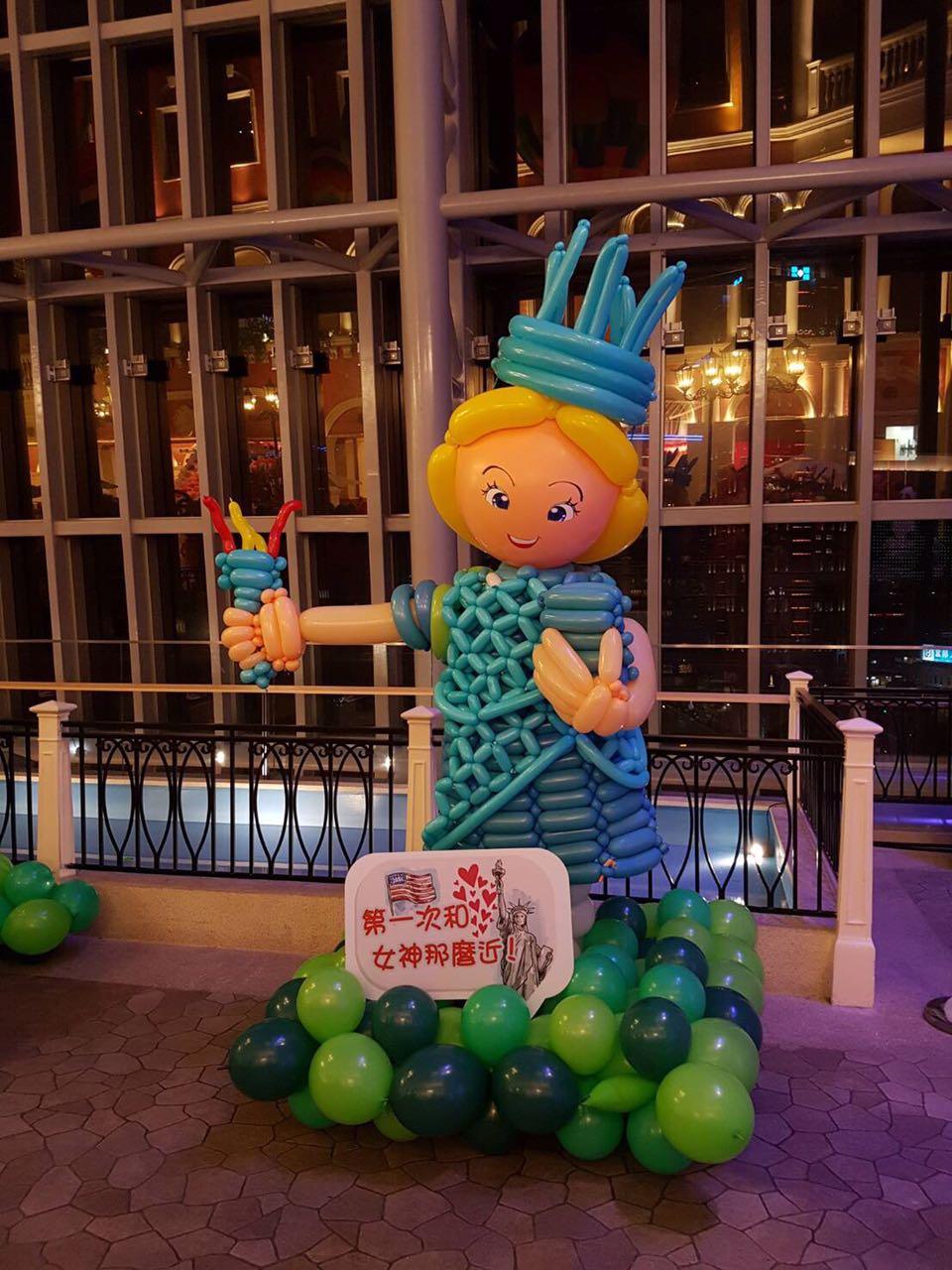 Around the World Theme Balloon Exhibit Statue of Liberty USA