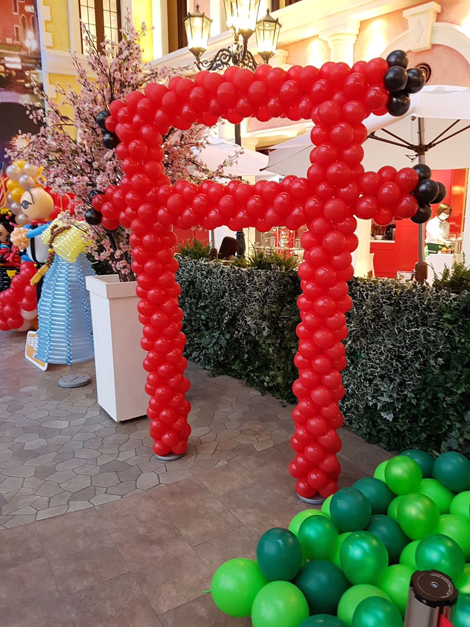 Around the World Theme Balloon Exhibit Japanese Temple Gate